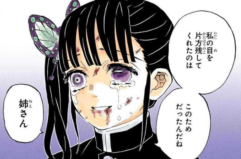 名言:栗花落カナヲ「私の目を片方残してくれたのはこのためだったんだね 姉さん」