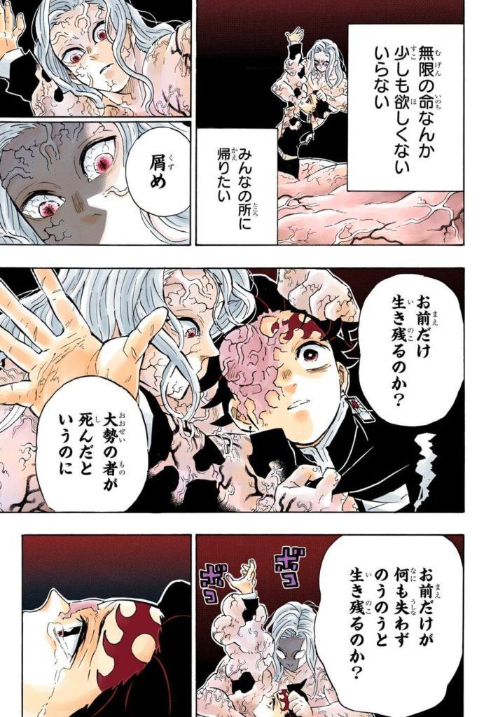 鬼滅の刃(きめつのやいば)203話ネタバレ 無惨の説得