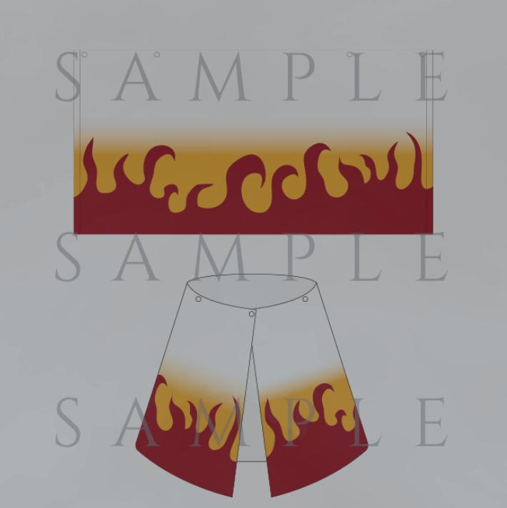 鬼滅の刃 映画 物販(グッズ)煉獄杏寿郎の羽織りタオル