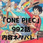 ワンピース (ONE PIECE) 992話、内容ネタバレ|タイトル「残党」|全19ページ掲載!