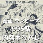 ワンピース (ONE PIECE) 995話、内容ネタバレ|タイトル「くの一の誓い」|全17ページ掲載!